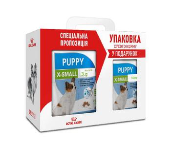 Сухой корм Royal Canin (Роял Канин) X-Small Puppy для щенков мелких пород, 3 кг+0,5 кг