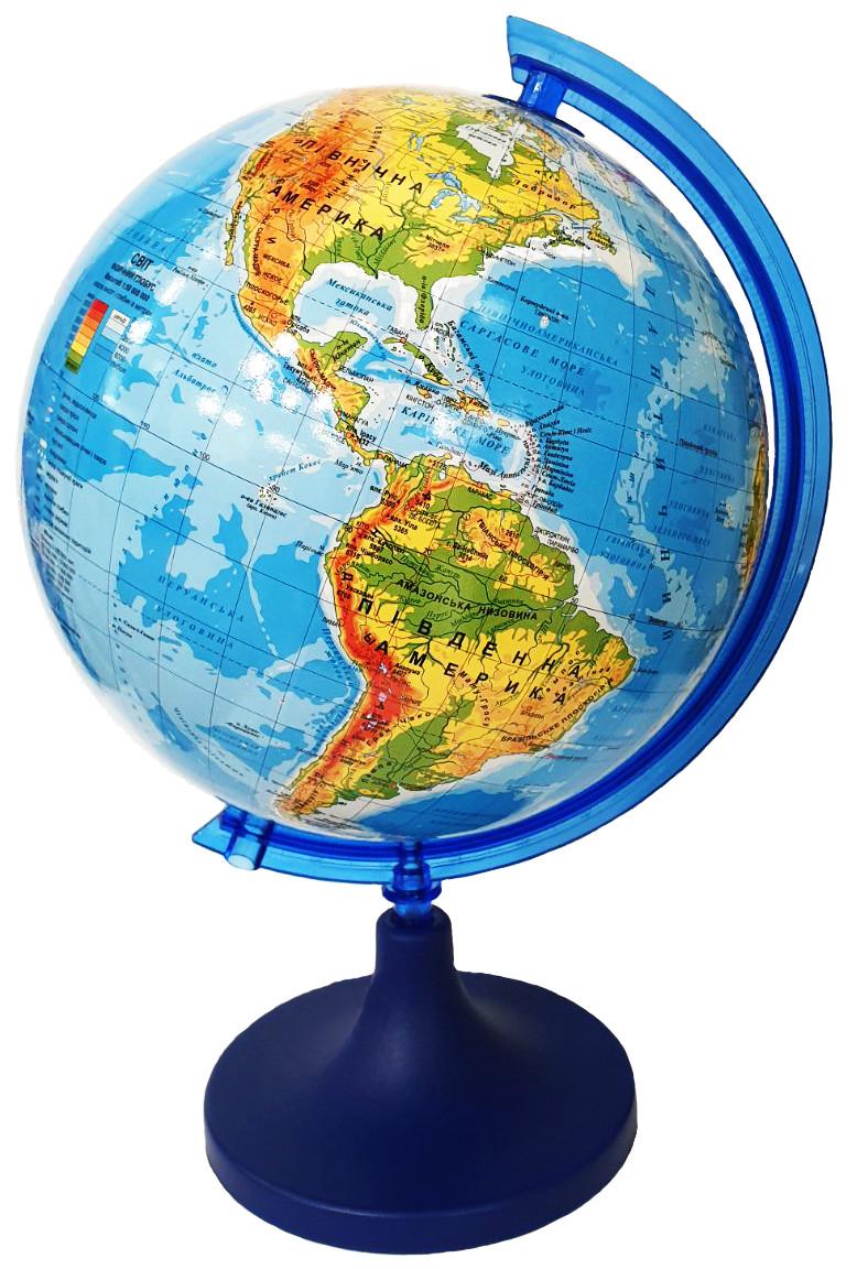 Глобус физический GLOWALA диаметр 250 мм на пластиковой ножке, укр.яз