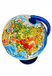 Глобус физический GLOWALA диаметр 250 мм на пластиковой ножке, укр.яз, фото 2