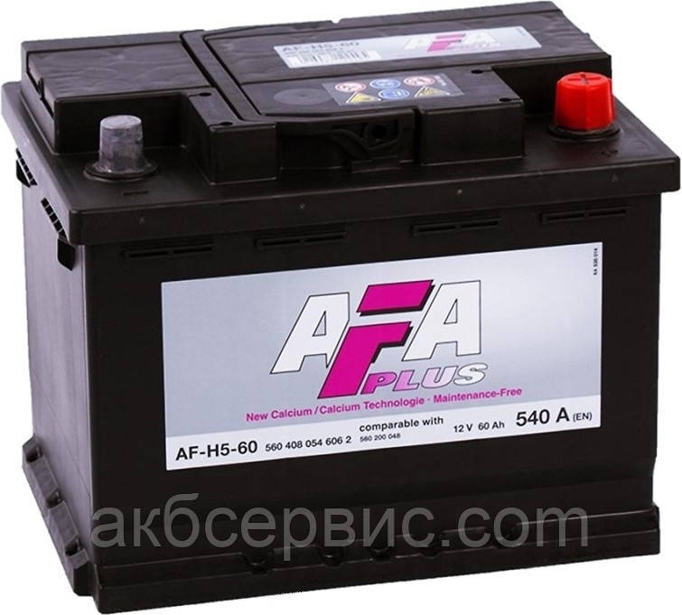 Аккумулятор автомобильный AFA 6СТ-60 АзЕ Plus