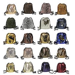 Рюкзак-мешок на шнурке подарочный, цвет в ассортименте