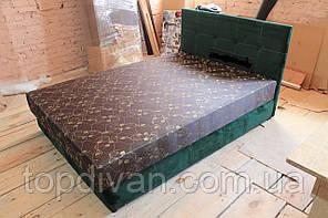 """Ліжко """"Жанна"""" (Лондон Велюр зелений) з матрацом та підйомним механізмом 200*160 спальне (будь-які розміри)"""