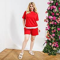 Костюм шорти і футболка обманка жіночий, фото 1
