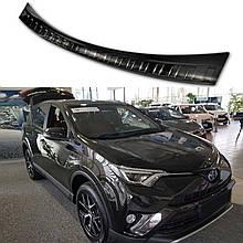 Защитная накладка на задний бампер для Toyota RAV-4 LIFT 2016-2018 /черн.нерж.сталь/