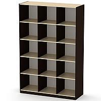 Шкаф книжный КШ-3 венге комби Компанит (130х45х195 см)