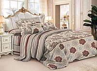 Бязевый комплект постельного белья полуторный размер 150 см/ 210 см