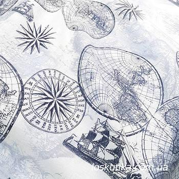 62008 Семь морей. Ткань для декорирования, и для изготовления хендмэйд поделок.