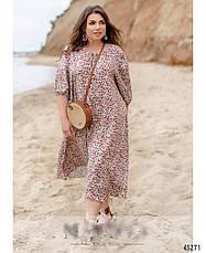 Сукня жіноча штапельне вільний стильне розміри:46-60, фото 3
