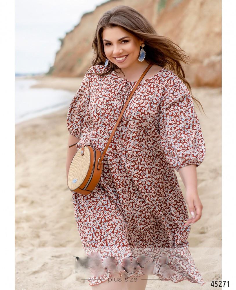 Сукня жіноча штапельне вільний стильне розміри:46-60