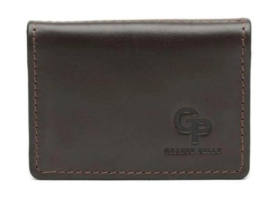 Обложка для автодокументов Grande Pelle, кожаная обложка для техпаспорта или ID карты, коричневая
