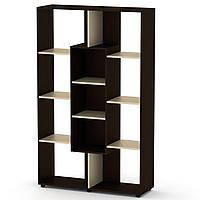 Шкаф книжный КШ-4 венге комби Компанит (110х35х174 см)