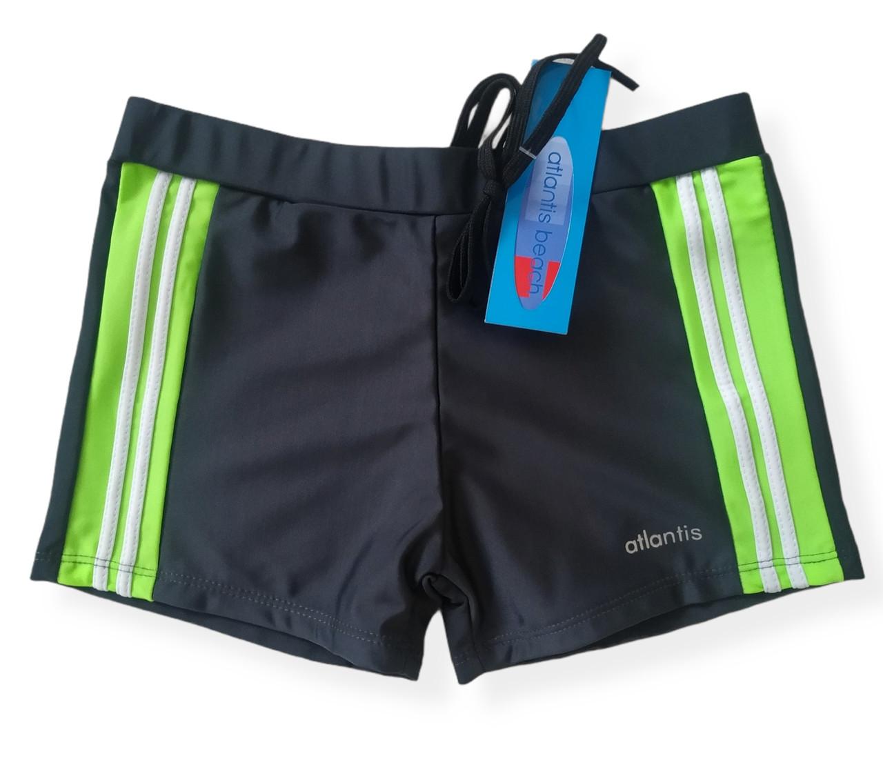 Плавки-шорты для плавания подростковые серые Размеры 152
