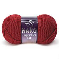 Nako Super Inci Hit красный № 1175