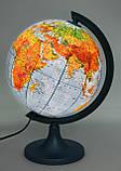 Глобус политико-физический настольный диаметр 25см GLOWALA с подсветкой, англ., яз., фото 2