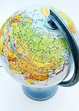Глобус политико-физический настольный диаметр 25см GLOWALA с подсветкой, англ., яз., фото 3