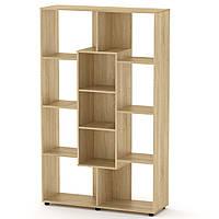 Шкаф книжный КШ-4 дуб сонома Компанит (110х35х174 см)