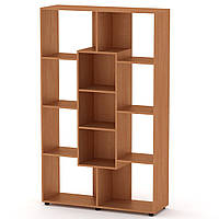 Шкаф книжный КШ-4 ольха Компанит (110х35х174 см)