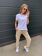Практичний костюм жіночий двійка (штани плюс футболка), 00944 (Бежевий), Розмір 42 (S), фото 2