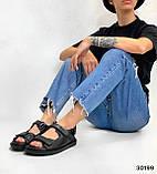 Жіночі босоніжки Chanel з натуральної шкіри на липучках в кольорах, фото 10