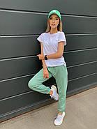 Костюм жіночий двійка зі штанами і футболкою, 00945 (Оливковий), Розмір 42 (S), фото 2