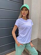 Костюм жіночий двійка зі штанами і футболкою, 00945 (Оливковий), Розмір 42 (S), фото 3