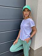 Костюм жіночий двійка зі штанами і футболкою, 00945 (Оливковий), Розмір 42 (S), фото 4