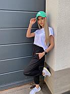 Модний жіночий костюм двійка (штани і футболка), 00947 (Чорний), Розмір 46 (L), фото 3