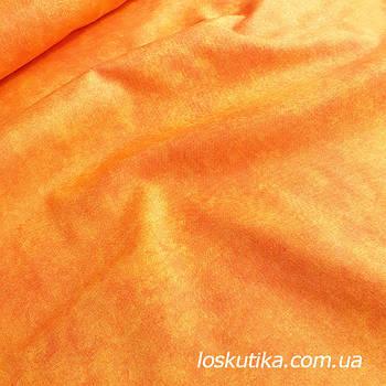 62012 Желто-оранжевый. Фоновые ткани для хобби. Американский хлопок.
