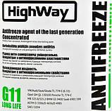 Антифриз HIGHWAY LONG LIFE G11 концентрат зелений 3,78л, фото 2