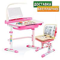 Детский стул-стол / Растущая парта Evo-kids Evo-17 (с лампой)