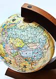 Глобус політико-фізичний Glowala 250 мм в дерев'яній оправі з підсвічуванням, фото 2