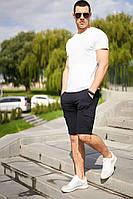 Мужской костюм летний стильный молодежный с шортами и белой футболкой / Комплект молодежный летний
