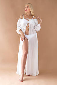 Туніка пляжна Кілі колір: білий, розмір: one size.