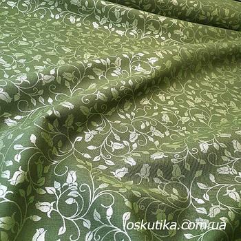 62014 Бронзовый бутон. Ткань с глиттером. Американские ткани с растительным мотивом. Квилтинговые ткани.