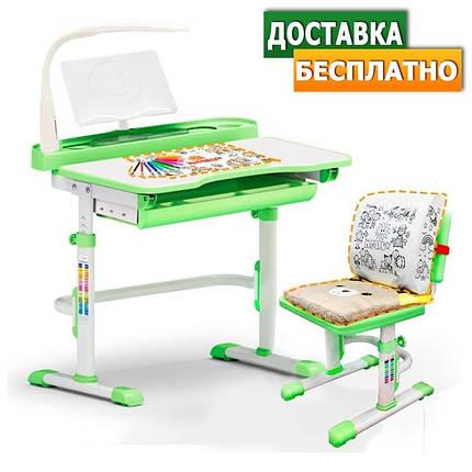 Evo-Evo kids-18+лампа   Дитяча парта растишка одномісна зі стільцем, фото 2
