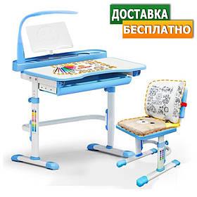 Детская парта одноместная со стулом Evo-kids Evo-18 (с лампой)
