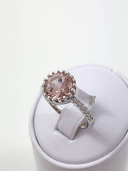 Кольцо серебряное с морганитом Т4500/м (18.0 р.)