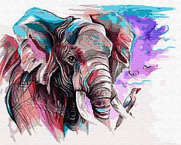 Картина по номерам Слон акварелью GX31983 Brushme 40 х 50 см (без коробки)