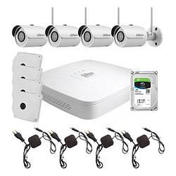 Комплект видеонаблюдения WiFi kit 4cam