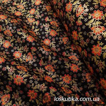 62021 Мини цветение. Ткань с глиттером. Американские квилтинговые ткани.