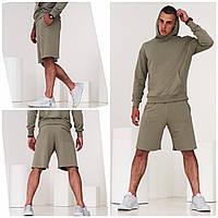 Мужской комплект (худи + шорты) мужской. Стильный спортивный костюм мужской толстовка шорты