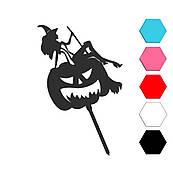 Хеллоуин Ведьма топпер для торта 13,5*11,3 см (3D)