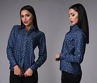 Блуза женская джинсовка, фото 1