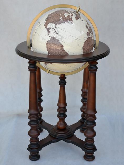 Глобус 420 мм Античный Glowala на колоннах
