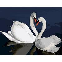 """Картина по номерам """"Лебеди в воде"""" VA-2662"""