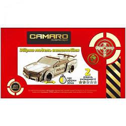 """Дерев'яний конструктор """"Автомобіль Camaro Police"""" BB2comar"""
