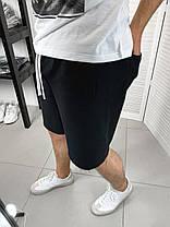 Мужские трикотажные шорты черные, фото 3