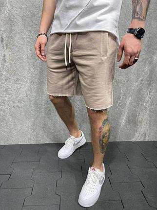 Мужские трикотажные шорты бежевого цвета, фото 2