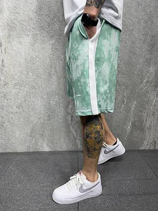 Чоловічі шорти м'ятного кольору вільні, фото 2