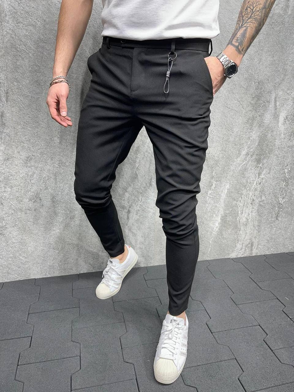Штани чоловічі зауженые чорного кольору